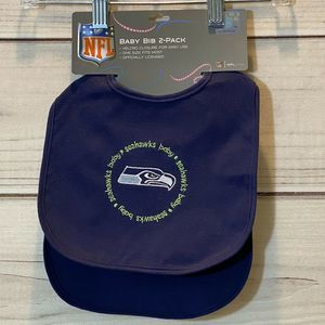 NFL SEATTLE SEAHAWKS NWT INFANT 2 PACK BABY BIBS